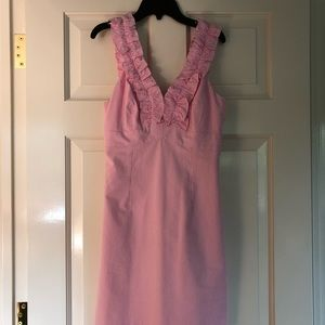 Lilly Pulitzer Pink Seersucker Dress